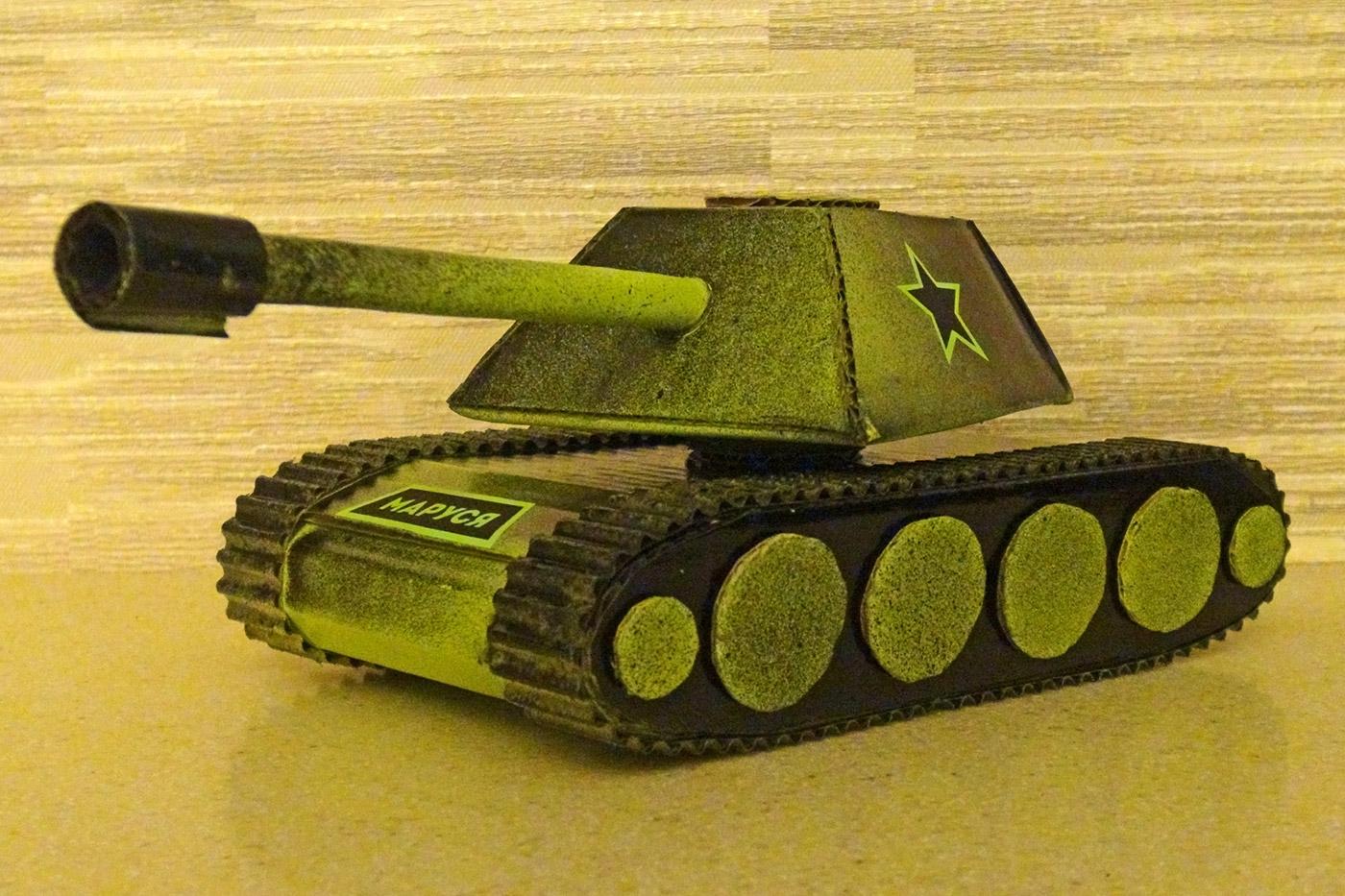 Собственный бумажный танк. Как сделать танк из бумаги 29