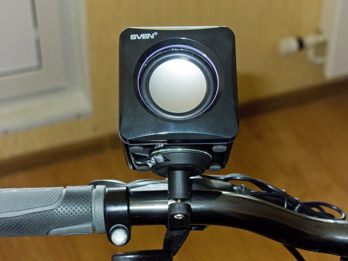 Как сделать колонку на велосипед фото 480-866