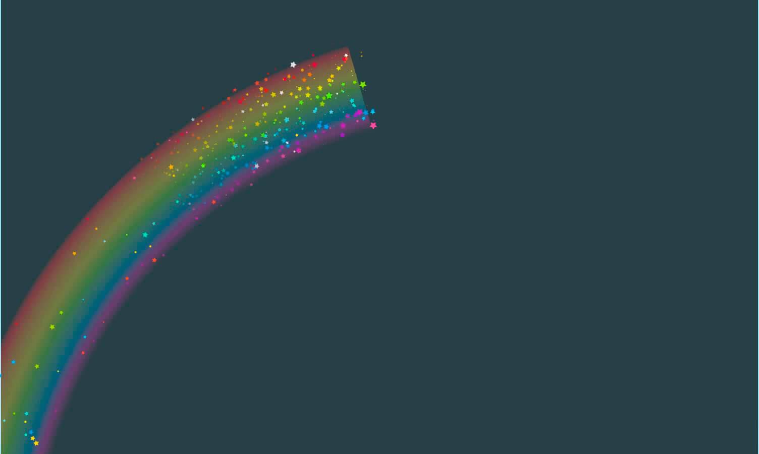 Картинка радуга с анимациями