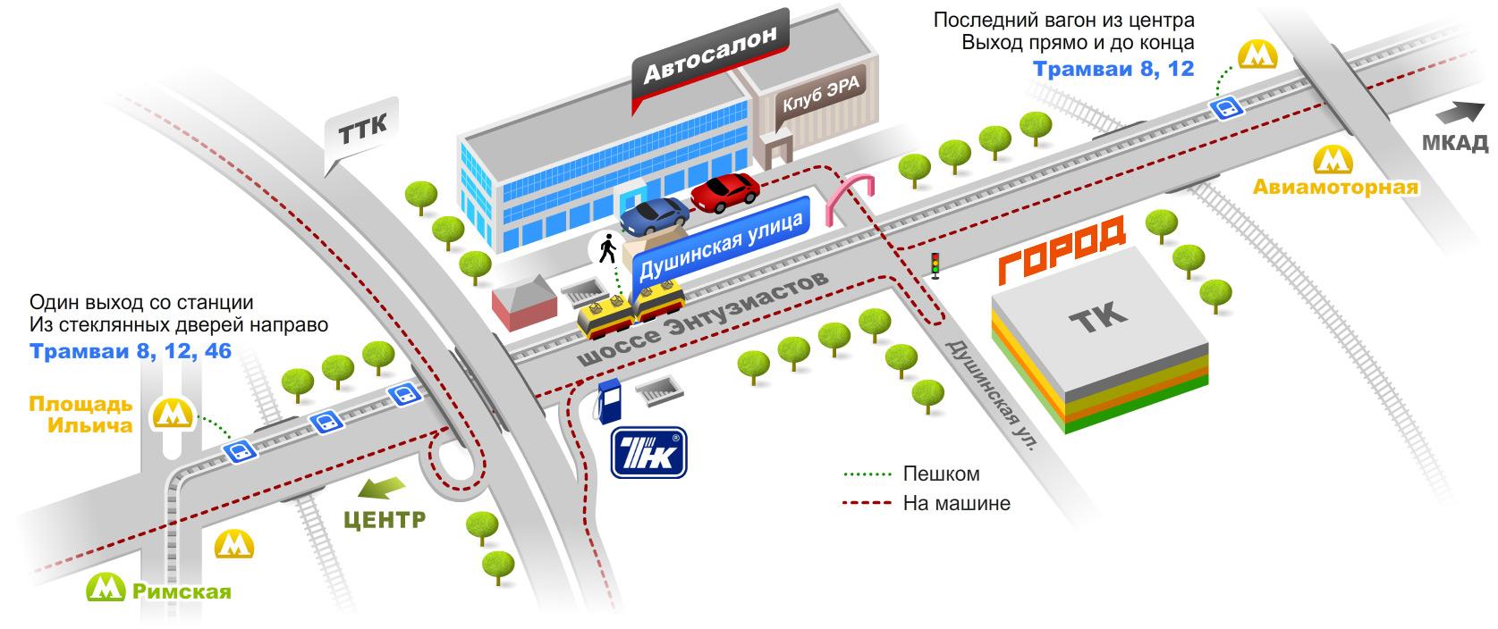 Схема и карта проезда