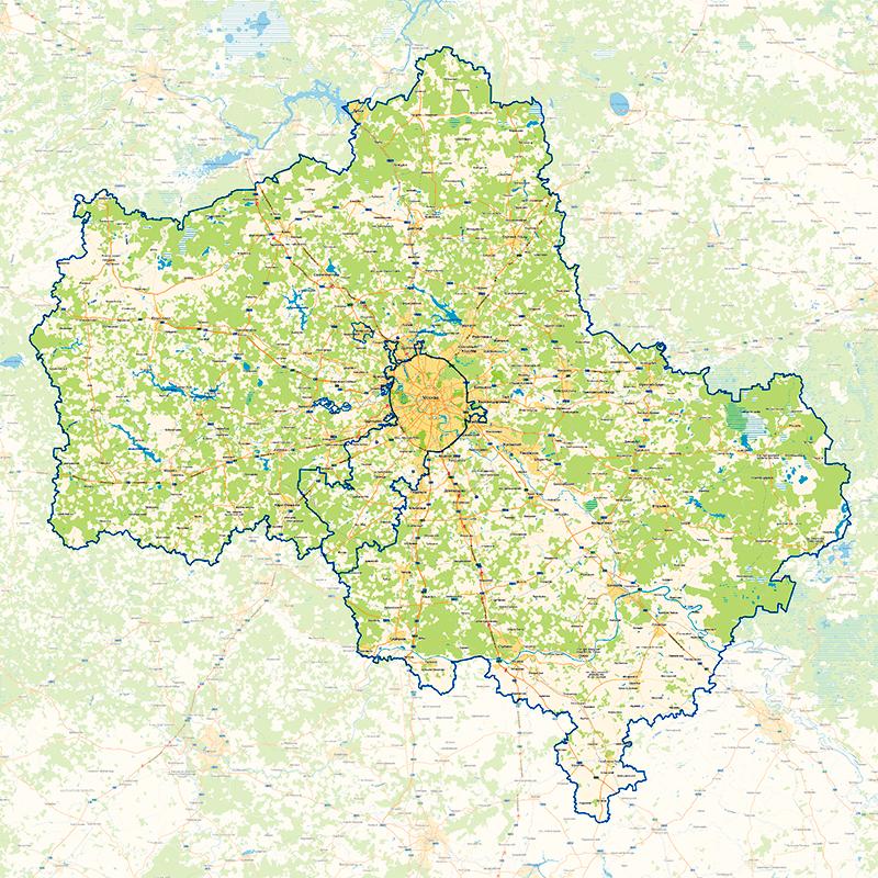 московская область города подробная карта фото сухой, нет